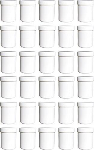 30 Salbendöschen, Creme-döschen, Salbenkruke hoch, 60ml Inhalt - MADE IN GERMANY