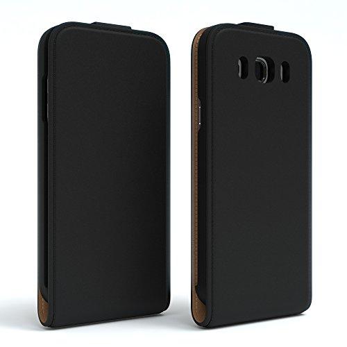 Samsung Galaxy J5 (2016) Hülle - EAZY CASE Premium Flip Case Handyhülle - Schutzhülle aus Leder zum Aufklappen in Anthrazit Schwarz