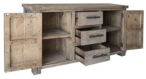The Wood Times Sideboard Vintage Wohnzimmerschrank Massiv Industrial Kiefernholz, FSC Recycelt, BxHxT 160x85x45 cm - 3
