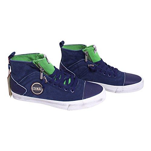Scarpe sneaker uomo/donna Colmar Originals mod. MU Durden Colore 007 - Navy Green Taglia 40 Multicolore - White/Blue