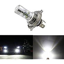 KaTur Bombilla para faros de niebla, led H4 doble haz, alto y bajo, Cree 9SMD 45W, aluminio, 6500K, 2500lm, Super blanco
