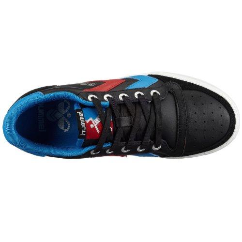 Hummel STADIL LOW 63-064-9001, Mixte Adulte Noir (BLACK/BLUE/RED 2640)