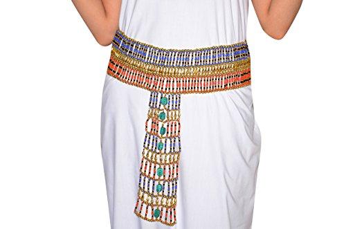 Kostüm Bauchtanz Pharaonen - Egypt Bazar Perlengürtel Kleopatra - Pharao Schmuck. Faschingschmuck, PG0015 (110 cm)