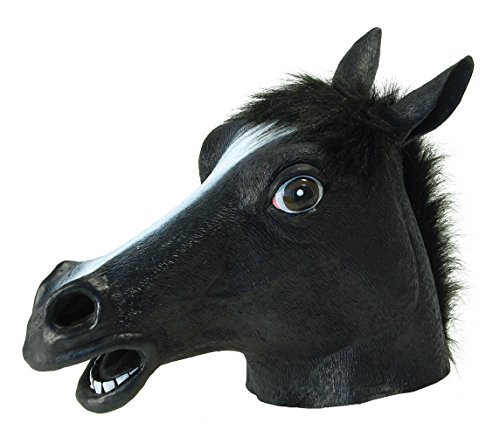 Bristol Novelty BM317 Black Beauty Pferd Maske, Mehrfarbig (Party Für Halloween-ideen Uk)