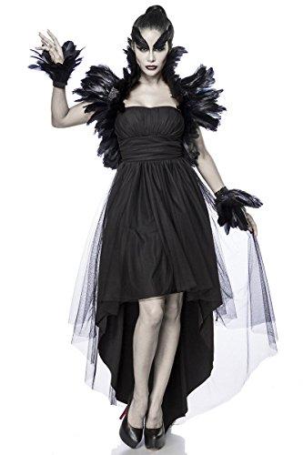 Sexy Crow Witch Kostüm Krähen Hexe Halloween Horror Damen Hexenkostüm L