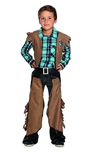 Alten Sheriff Westen Kinder Kostüm - Boland 82165 Karnevalskostüm, braun, 158