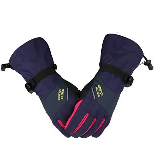 Zilee Donna Guanti Con Touch Screen - Guanti Impermeabili Termici Invernali, Guanti Caldi Termici Esterni per Moto MTB Palestra Bici Ciclismo Alpinismo Scooter Camping e Outdoo
