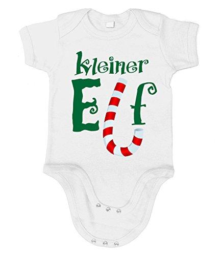 Kostüm Grinch Baby (Artdiktat Baby Organic Bodysuit - Strampler - Kleiner Elf Größe 76/86,)