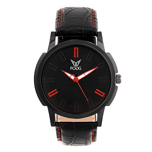 Fogg Analog Black Dial Men's Watch 1064-BK