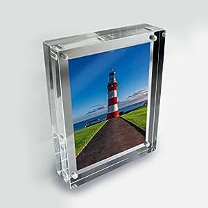 """Luminati Cadre photo, Acrylique, claire, 8 x 6"""""""