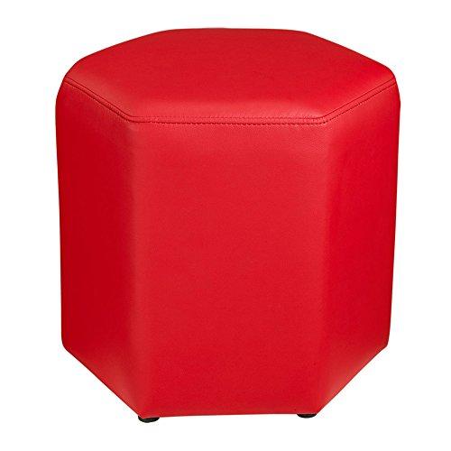 Yzdz sofa stool - change shoes sgabello simple pu leather short sgabello creative hexagonal modern footstool tavolino sit (colore : b)