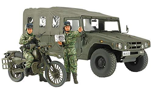 TAMIYA 25188 25188-1:35 JGSDF Aufklärer Krad mit HMV Fahrzeug, Modellbau, Plastik Bausatz, unlackiert