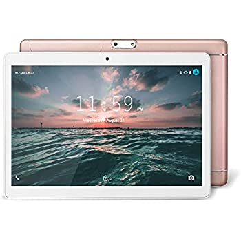 YUNTAB Tablet Android 9.6 Pulgadas, 3G WiFi PC Quad-Core, 1 GB de RAM y 16 GB de ROM, Doble Ranuras de Tarjeta, Pantalla táctil IPS,Bluetooth (Oro ...