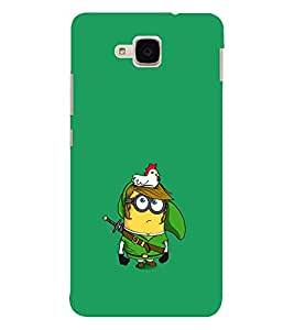 EPICCASE Minion and Hen Mobile Back Case Cover For Huawei Honor 5c (Designer Case)