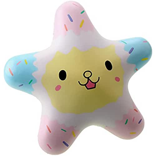 juguetes kawaii VLAMPO Squishy Starfish Toys Lento Levantamiento Perfumado Squeeze Toys Super Soft Decoration Starfish 5.5 Rainbow (blanco)