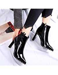 a307722a3 Amazon.es  Charol - Botas   Zapatos para mujer  Zapatos y complementos