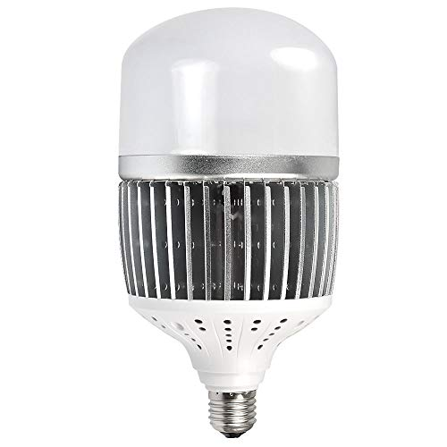MENGS CL-Q50W Hohen Lumen E27 50W LED Globus Lampe Ersatz für 400W Halogenlampen Aluminium-Fin + PC Abdeckung Neutralweiß 6500LM AC 85-265V