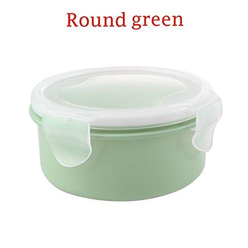 1 STÜCK Tragbare Kühlschrank Versiegelt Lebensmittel Prep Box Gewürze Frischhaltung Lebensmittel Aufbewahrungsbox Picknick Lunch Container Küche Round Green