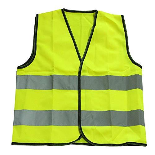 Womdee Warnweste Kinder Sicherheitsweste Gelb Stark Sichtbar Klein Universal Größe Schutz Weste Für Mädchen/Laufen Radfahren - Reißverschluss Vorne - Atmungsaktives Mesh