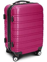 """Trolley Reisekoffer Reisetasche Gepäcktasche Größe M """"Line"""" Farbe Pink"""