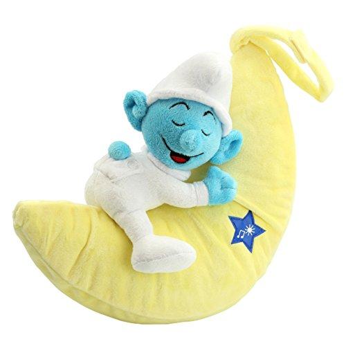 DIE SCHLÜMPFE Schlummer-Mondlicht Baby Schlumpf mit Musik Schlaflieder Plüsch Kuscheltier waschbar Babygeschenk Spielzeug von ANSMANN  -  bestätigte Kindersicherheit