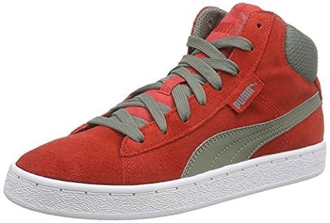 Puma Puma 1948 Mid, Unisex-Erwachsene Hohe Sneakers, Rot (high risk red-castor gray 08), 43 EU (9 Erwachsene