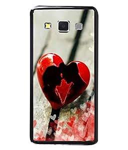 PrintVisa Designer Back Case Cover for Samsung Galaxy A3 (2015) :: Samsung Galaxy A3 Duos (2015) :: Samsung Galaxy A3 A300F A300Fu A300F/Ds A300G/Ds A300H/Ds A300M/Ds (The Broken Heart In Red Design)