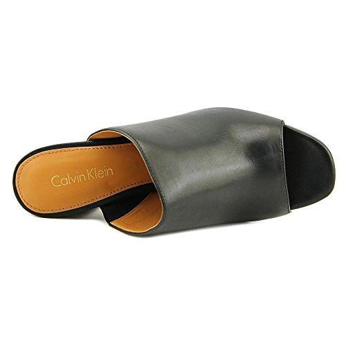 Calvin Klein Cicelle Damen Leder Sandale Black