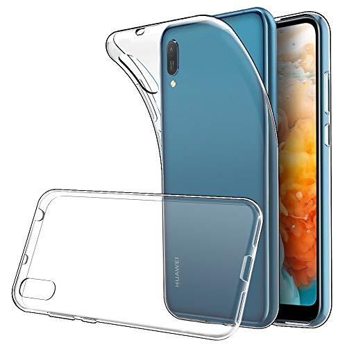 Simpeak Ersatz für Huawei Y6 2019 Hülle [6,09 Zoll], Silikon Transparent Clear TPU SchutzHülle Case handyhülle für Huawei Y6 2019