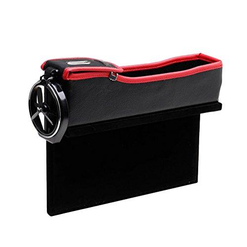 Zhhlinyuan Auto Konsole Seitentasche Catcher Seiten Schlitz Lagerung Organizer Autositz Seiten Schlitz Taschen Zwischen Sitz und Konsole mit Münzfach und Getränkehalter -