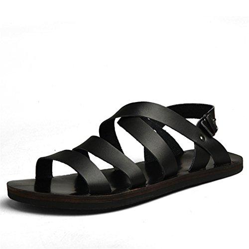 Sanuk Leichte Sandalen (M?nner Sandalen Sommer Schuhe Strand Breathable Schnalle Gladiator Sandalen Black 10)