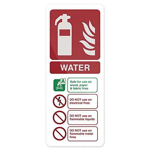 FIXMAN 662607 Hinweisschild Wasser-Feuerlöscher nach EN3 202 x 82 mm, nachleuchtend