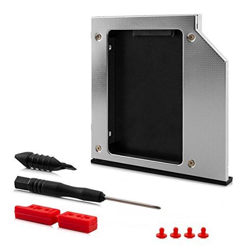 Preisvergleich Produktbild kwmobile Laptop Festplattenrahmen aus Aluminium - HDD / SSD SATA 3.0 (III) für 9, 5mm Festplatte