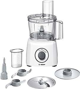 Bosch MCM3100W Kompakt-Küchenmaschine, 800 W, 2,3 L, SmartStorage, weiß / grau