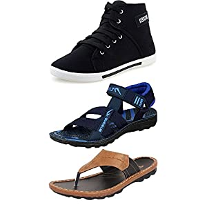 Ethics Men's Artificial Leather Footwear – Pack of 3