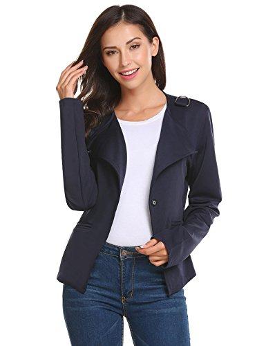 Damenjacke Elegant Mode Kurz Kragenlos kurzblazer Kurzjacke Bolero Jacke mit 3/4 Ärmel Nude