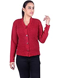 eWools Women Ladies Girls Winter Wear Woolen Button Top Cardigans Sweaters  (Lycra Cardigans)
