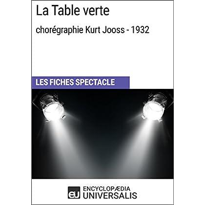 La Table verte (chorégraphie Kurt Jooss - 1932): Les Fiches Spectacle d'Universalis