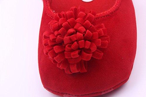 Bigood Liebe Blüte Ballet Stil Baby Mädchen Schuh Lauflernschuhe Krabbelschuhe Rot