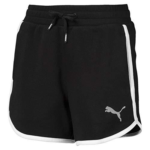 PUMA Mädchen Alpha Sweat Shorts G Jogginghose Alpha Sweat Shorts G, Schwarz (Cotton Black), 12 Years (Herstellergröße: 11-12 Years)