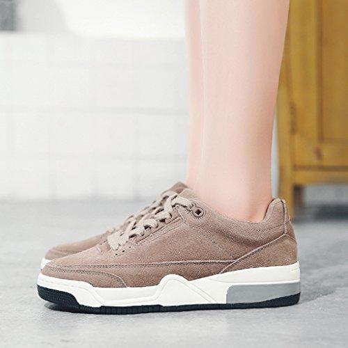 HWF Chaussures femme Printemps Casual Retro Épais Bottom Plate Running Chaussures de sport Chaussures Femmes ( Couleur : Vert , taille : 39 ) Taro Purple