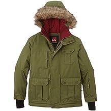 Quiksilver Snowboard Jacke Storm Y Jacket - Chaqueta de esquí para niño, color verde, talla L
