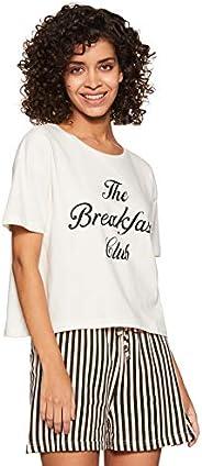 Amazon Brand - Eden & Ivy Women's T-Shirt & Shorts S
