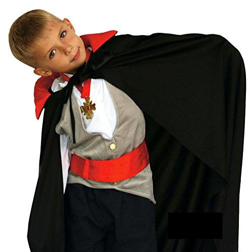 Kinder Halloween Dracula Vampir Cape schwarz und rot