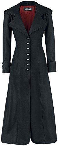 Gothicana by EMP Blood Red Cappotto donna nero S