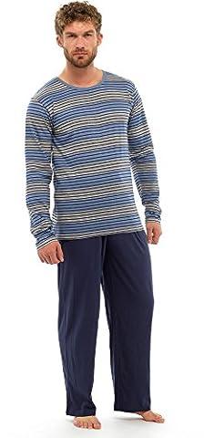 Modern Casuals-Pyjama 2 Pièces-Homme - MARINE & BLEU, Large