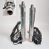 """DAMBAT/IBO Edelstahl 3"""" Tiefbrunnenpumpe 550W-750W 7-11,5bar 2100-2700 l/h Rohrpumpe Brunnenpumpe (3"""" SQIBO 0,75kw)"""