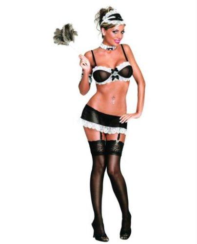 Französiches Zimmermädchen Schwarz & Weiß L-XL