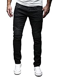 MERISH Biker Jeans Hommes Slim Fit Denim Divers lavages et couleurs Modell J1166