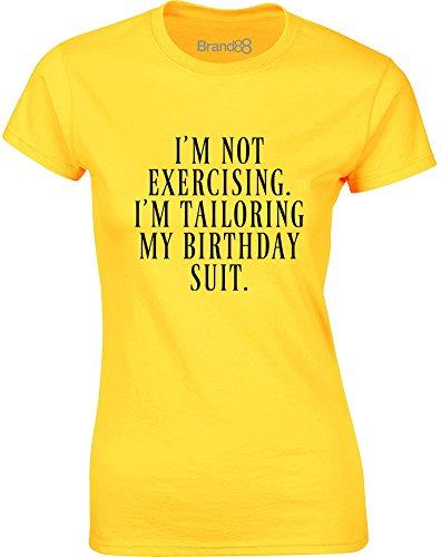 Brand88 - I'm Tailoring My Birthday Suit, Gedruckt Frauen T-Shirt  Gänseblümchen